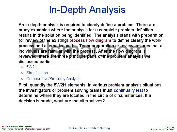 in depth analysis