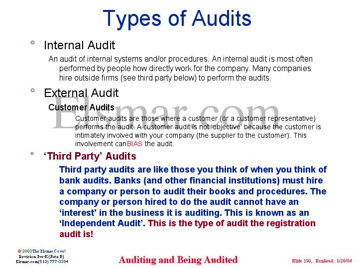types of audits There are three different types of audit risks that can be avoided you must understand the audit risks, and have complete control over financial reporting whether you hire an accounting company or have an accounting team in-house, you can better understand audit risks so you can reconcile them.