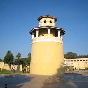 The Jail watchtower now still at the centre of the park.