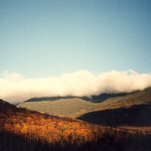 Clouds Hugging the Hills