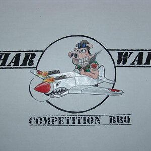 Logo for our competition BBQ team.