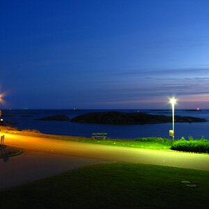 In the middle of the night (camera open for 15 seconds). Lysekil, Sweden.