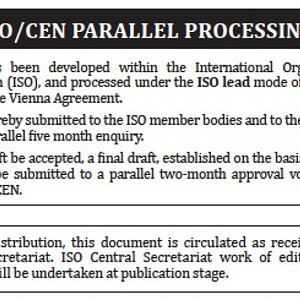ISO/CEN Parallel Processing note
