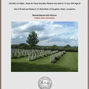 Certificate of Commemoration issued by the Commonwealth War Graves Commission